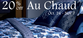 30% off Au Chaud Bed Linens