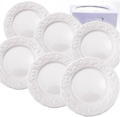 Philippe deshoulieres blanc de blanc canape plates set for Philippe deshoulieres canape plates