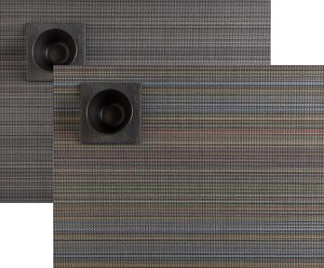 multi stripe rectangle placemat by chilewich