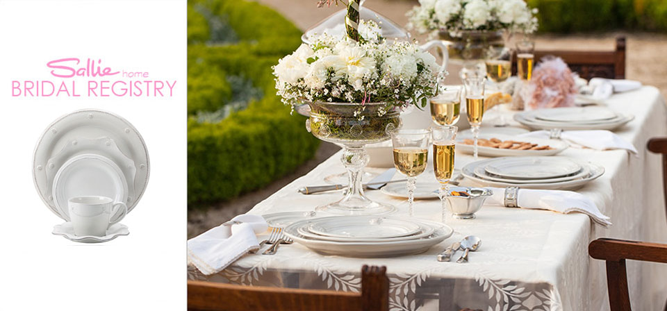 Wedding Registries at Sallie Home