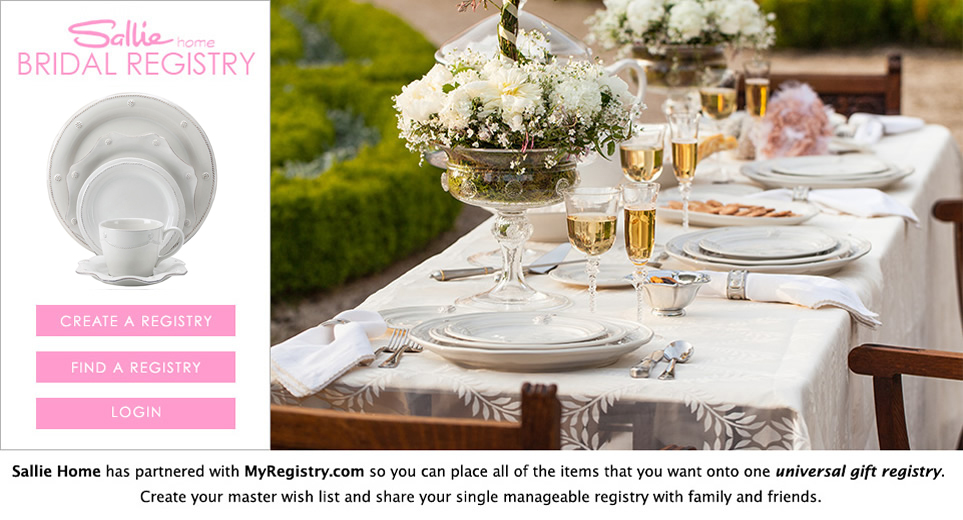 Wedding registry for At home wedding registry