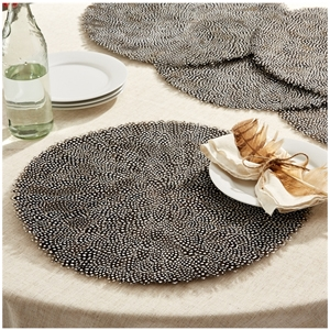 Guinea Feather Placemats Two S Company Official Retailer